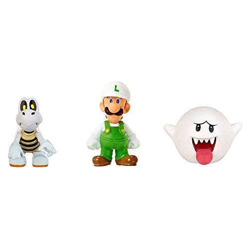 Nintendo - Figura Fire Luigi, Dry Bones, Boo, 2 cm