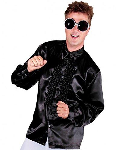 Chemise disco homme-Noir-M (Noire Chemise Noir Kostüm)