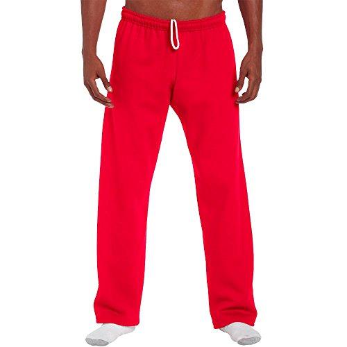 Gildan - Jogginghose mit offenem Beinabschluss / Red, XL