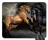Gutes Pferd gegen schlechte PferdeMausunterlage, Mousepad (PferdeMausunterlage) MP8159