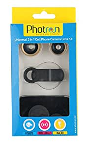 Photron 3-in-1 Universal Camera Lens Kit for Smartphones (Gold)