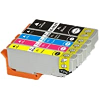 Set of 5 Compatible Epson 26 XL Series High Capacity Ink Cartridges. 1x T2621 Black, 1x T2631 Photo Black, 1x T2632 Cyan, 1x Magenta, 1x T2634 Yellow