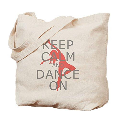 'CafePress,Keep Calm and Dance On – Leinwand Natur Tasche, Reinigungstuch Einkaufstasche, canvas, khaki, S (Tänzerin Bag Tote Dance)