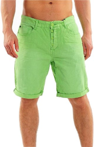 Sublevel by 98-86 Herren Denim Jeans Chino Bermuda Short Grün