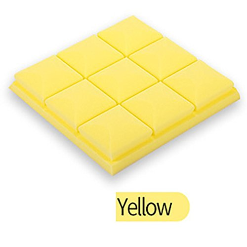 Malloom® Akustikschaum Platten Ton Endabsorptions Schwamm Studio KTV schalldicht 25x25x5cm (gelb, 10 stück) (Gelb Akustikschaum)