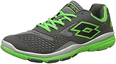 Lotto Men's College IV Cement and Fluo Clover Mesh Running Shoes - 11 UK/India (45 EU)