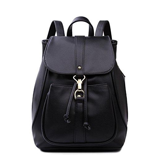 College stile zaino/Puro semplice zaino borsa di cordone colore-A A