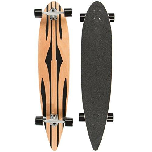 Ultrasport Carving Longboard / Skateboard für City- und Park-Cruising - Komplettboard, 110 cm, ideales Skateboard für Carving und Cruising - Downhill Longboard mit breiten Rollen, bis 100 kg, Tribal
