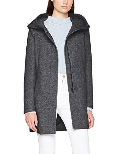 ONLY Damen Mantel 15142911, Grau (Dark Grey Melange), 34 (Herstellergröße: XS)