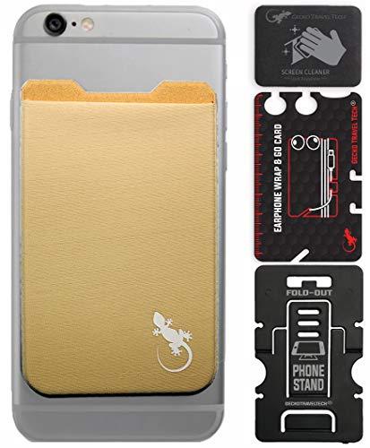 El Monedero Adhesivo Gecko teléfonos celulares, Diseño