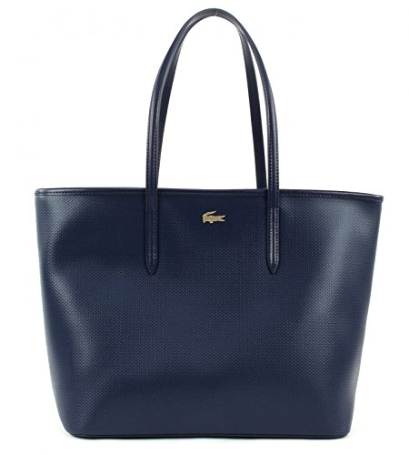 LACOSTE Chantaco Medium Shopping Bag Peacoat
