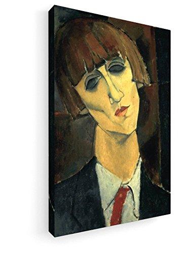 Amedeo Modigliani - Madame Kisling - um 1917 - 30x45 cm - Leinwandbild auf Keilrahmen - Wand-Bild - Kunst, Gemälde, Foto, Bild auf Leinwand - Alte Meister / Museum