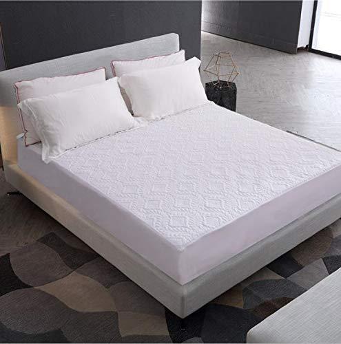 SUYUN Antiallergischer Matratzenbezug mit Reißverschluss, wasserdichter und atmungsaktiver Matratzenbezug,Wasserdichtes weißes Quadrat140 * 200 * 30cm