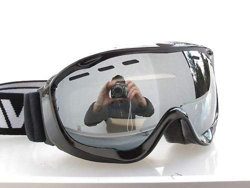 RAVS by ALPLAND SNOWBOARDBRILLE STRONG SILBER VERSPIEGELUNG - SKIBRILLE Goggle AUCH für BRILLENTRÄGER INKL.MICROFASERBAG! -