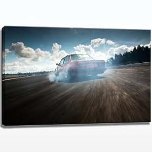 BMW Drift image sur toile de–100cm x 70cm sur toile XXL, prêt encadrée prête à être suspendue