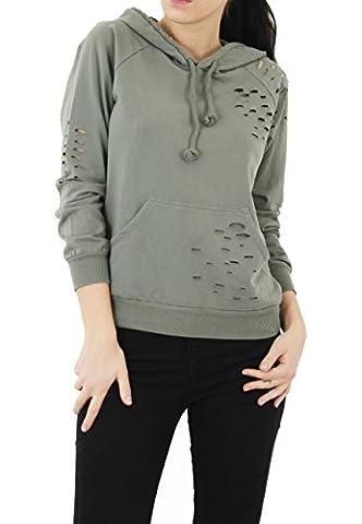 MIA - Sweat-shirt - Femme - vert - S/M 36-38