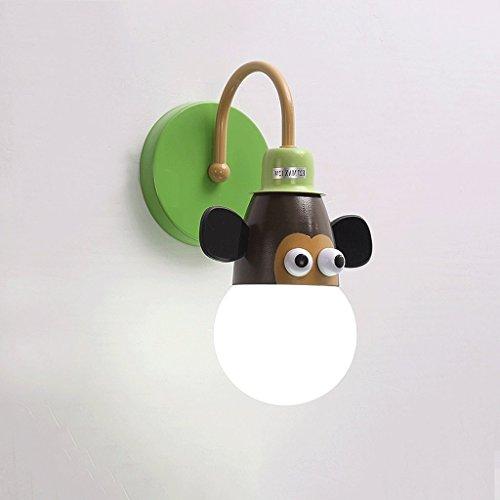 MoMo Kinder 'S Wandleuchte Bett Nachttischlampe Kreative Cartoon Kinder' S Zimmer Licht Junge Mädchen Zimmer Licht Tier Prinzessin Licht,AA