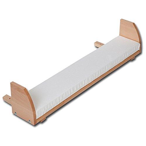 Breite Futon-rahmen (babybay Maxi und Boxspring Verlängerungsseite Kernbuche geölt inkl. Matratzenergänzung weiß (nicht gleichzeitig verwendbar mit babybay Verschlussgitter))