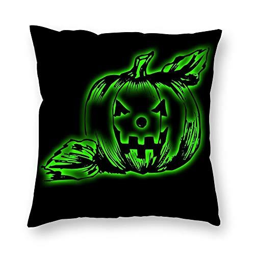 Dartys Pillow Cover Pumpkin Light Lantern Jack Attribute Halloween Kurze Plüschkissenbezüge Fashion Classic Stripes Home Decor 45x45cm 18x18Zoll Schmusetuch Digitaldruck weiche Kissenbezüge Deko