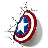 Luz de Noche / Luz de Pared de Decoración en 3D de Escudo del Capitán América