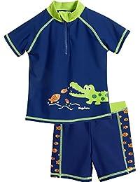 Playshoes UV-Schutz Bade-Set Krokodil, Bañador para Niños