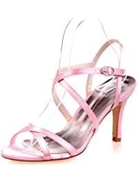 Elegant high shoes Tacones altos De Boda Para Mujer/Peep Toe/Plataforma/Confort/Sandalias SatéN Wedding/Night...