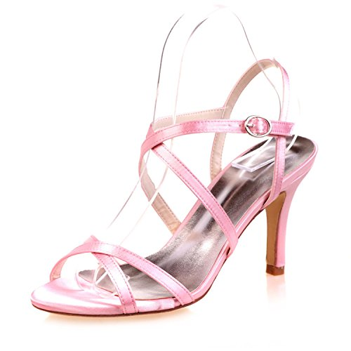 L@YC Tacchi alti Da Donna / Peep Toe / Piattaforma / Comfort / Sandali Festa Di Matrimonio / Notte In Raso Pink