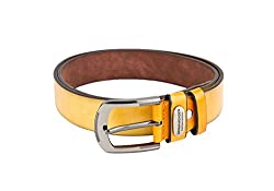 Swiss Design Yellow Casual Leatherite Belt