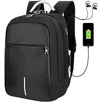 Vbiger Mochila portátil para Hombres Mujeres Mochila para Estudiantes de Gran Capacidad Mochila para Viajes al Aire Libre, Función de Carga USB, Se Adapta a 15.6 '' Ordenador portátil