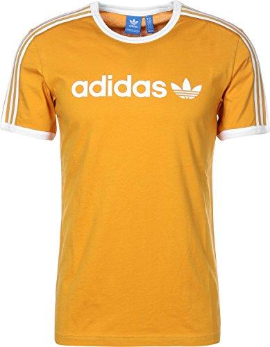 adidas Herren Linear Tee T-Shirt, Gelb (Amatac), XS (Tee T-shirt Gelbes)