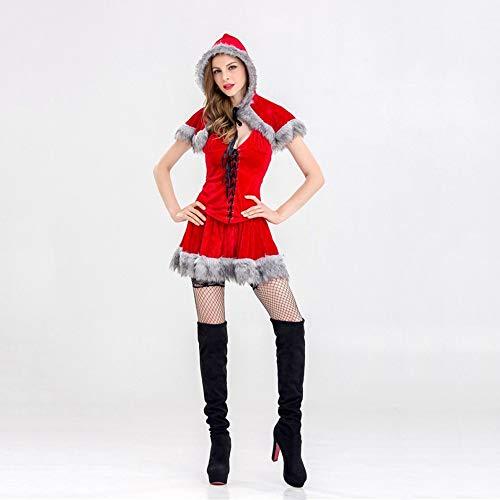 Olydmsky Weihnachtskostüm Damen,Christmas Rock Weihnachten Adult Show Kostüm Cosplay Zeigen Kleidung