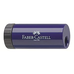 Faber-Castell Sacapuntas para lápices de grafito y de color, color azul y rosa