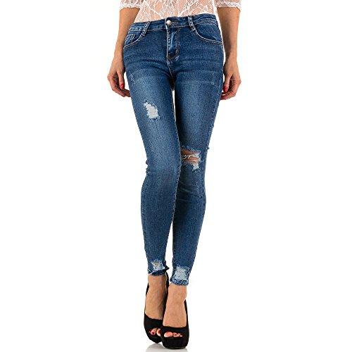Destroyed Skinny Jeans Für Damen bei Ital-Design Blau