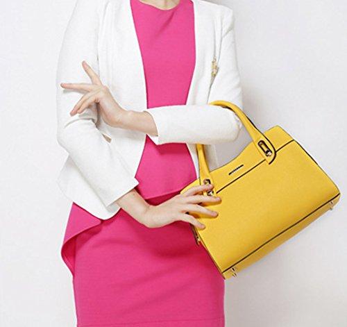 Keshi Pu Cool Damen Handtaschen, Hobo-Bags, Schultertaschen, Beutel, Beuteltaschen, Trend-Bags, Velours, Veloursleder, Wildleder, Tasche Gelb