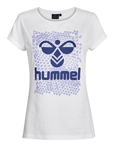 Hummel Damen T-Shirt Hexagon SS Tee, White, S, 09-876-9001
