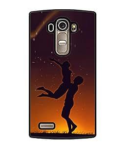 FUSON Designer Back Case Cover for LG G4 :: LG G4 Dual LTE :: LG G4 H818P H818N :: LG G4 H815 H815TR H815T H815P H812 H810 H811 LS991 VS986 US991 (Milky Way Stars Love Couples Lovers Family Love)