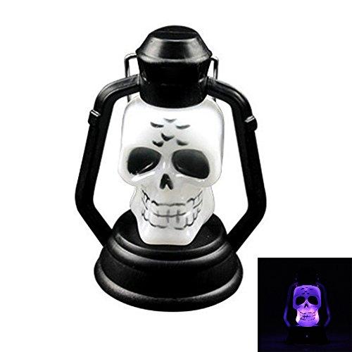 Halloween Lampe Portable Hängeleuchte Scary Horror Bunte Flash Skull Grimasse LED (1 Stück) Lantern Lighter Halloween Dekorationen ()