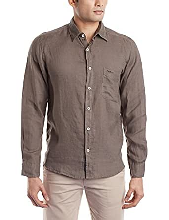 Pepe Jeans Men's Casual Shirts (_8903872405619_Olive_XX-Large_)
