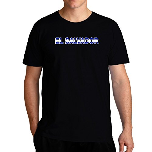 Eddany El Salvador country flag T-Shirt (Salvador T-shirt El Flag)