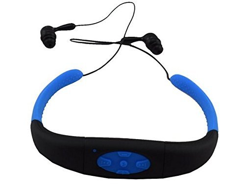 sudroid Wasserdichter MP3-Headset Musik-Player, 8GB Speicher HiFi-Stereo-, Kopfhörer für Schwimmen, Surfen, Laufen, Sport, Preisgekröntes Design