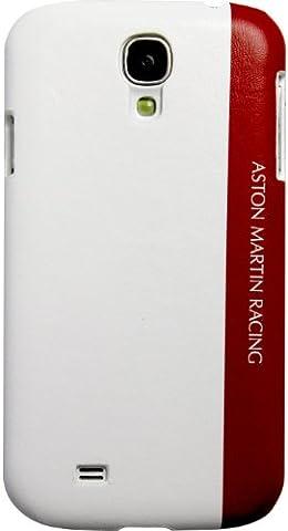 Aston Martin Racing Schutzhülle für Samsung Galaxy S4 (mit geprägtem Logo) Weiß / Rot