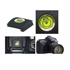 2 en 1 protège griffe avec niveau à bulle pour les appareils photo DSLR/SLR pour Nikon Canon Olympus Pentax Fuji.