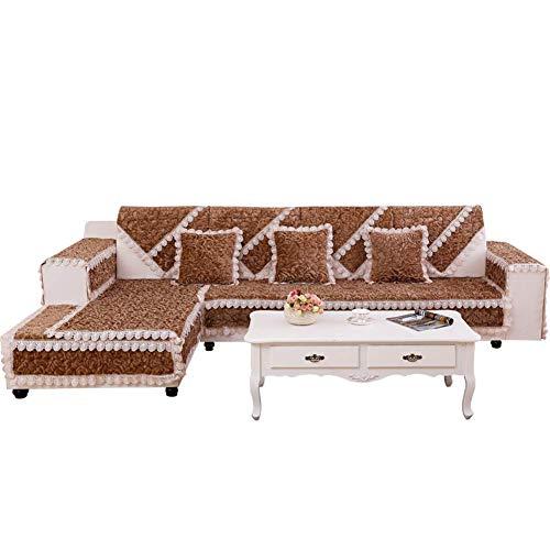 ZTMN Multi-Size-Quadrat Plüsch Möbel Schutz und Schonbezug für Haustiere, Kinder, Hunde - Sofa, Loveseat, Einfarbig 1 Stück-A 110x110cm -