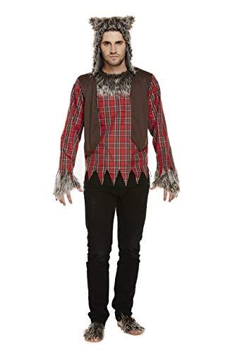 Emmas Wardrobe Werwolf Kostüm Männer -Wolf Outfit für Ihren nächsten Halloween oder Märchen Partei UK Größe M-L (Men: Medium, Werewolf) (The Wolfman Kostüm)