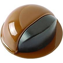 Brinox B90040M - Tope acero para puertas adhesivo, 2,2 x 4,9 x 4,9 cm, color marrón