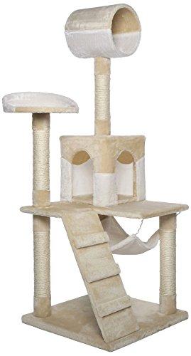 dibea KB00354, Kratzbaum, Kletterbaum für Katzen (Höhe 133 cm), beige / weiß