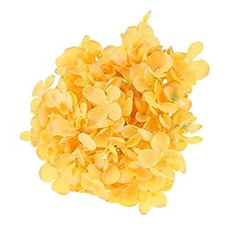 B Blesiya Floral Flores de Hortensia Artificial de Seda 19 cm Diámetro