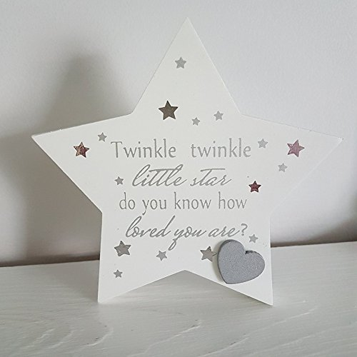 Baby Sentiment Mantel Plaque Twinkle Twinkle Little Star