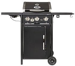 Outdoorchef HAMILTON 3G + schwarz BBQ Gasgrill Grillstation, 3 Brenner mit Seitenbrenner, 18.131.25