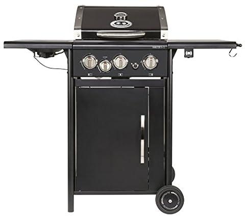 Outdoorchef HAMILTON 3G + schwarz BBQ Gasgrill Grillstation, 3 Brenner